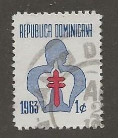 DOMINICAN REPUBLIC SC #  RA34  USED