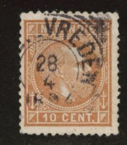 Netherlands Indies  Scott 9 used 1870 King William III