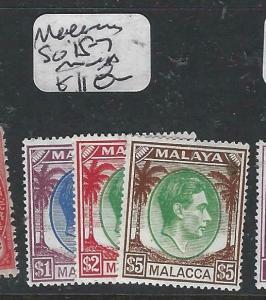 MALAYA MALACCA  (P1704B)  KGVI  $1-$5  SG 15-7   MNH
