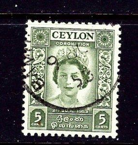 Ceylon 317 Used 1953 issue