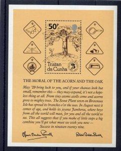 1982 Boy Scouts Tristan da Cunha 75th anniversary SS
