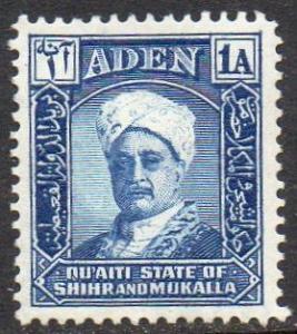 Aden (Quaiti State of Shihr and Mukalla) 1942 1a Sultan MH