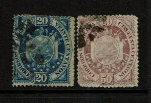 Bolivia SC# 44 and 45, Used, Hinge Remnant - S9599