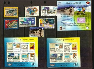 Uruguay complete country lot of Space Apollo 11 Moon landing Astronauts stamps
