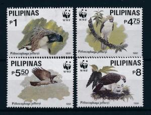 [53625] Philippines 1991 Birds Vögel Oiseaux Ucelli of prey WWF Eagle MNH