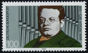Germany 1645 MNH Max Reger, Composer, Pipe Organ