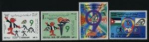 Jordan 1627-30 MNH 9th Arab Sports Tournament, Cartoons