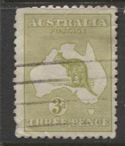 Australia - Scott 47 - Kangaroo -1915 - FU - Wmk 10 - Die I - 3d Stamp4