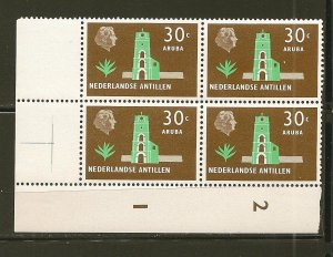 Netherlands Antilles 250 Aruba Block of 4 MNH