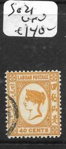 LABUAN (P0204B)  QV CAMEO 40C  SG 21   VFU