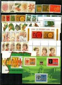Surinam Mint NH (1981 Commemorative Year Set) - CV $47.90