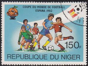 Niger 560 CTO 1981 Spain '82 World Cup Soccer