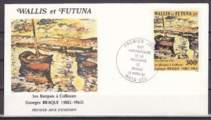 Wallis & Futuna, Scott cat. C113. Painting issue. First day cover. ^