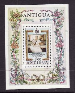 Antigua-Sc#586-unused NH sheet-Queen Mother-80th birthday-1980-