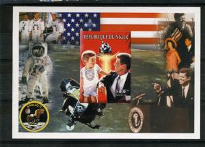 Niger 1999 J.F.Kennedy Apollo 11 Space Souvenir Sheet IMPERFORATED  MNH