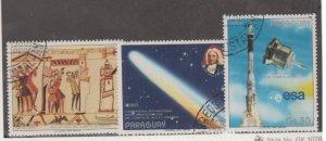 Paraguay Scott #C641-C642-C643 Stamps - Used Set