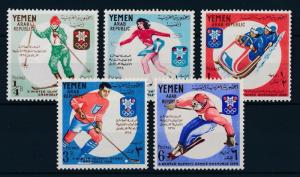 [42975] Yemen 1967 Olympic Winter Games Grenoble Icehockey Figure Skating MNH