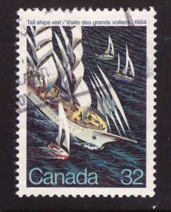 Canada Scott 1012 Used Tall Ship stamp