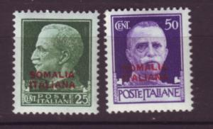 J19962  Jlstamps 1931 somalia set mnh #136-7 ovpt
