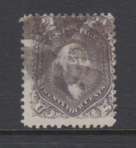 US Sc 78a used 1862 24c grayish lilac Washington, Geometric Fancy Cancel, Scarce