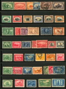 #285 - #621 1898-1925 Trans-Miss, Pan-American, Assorted Commens Sets, M&U
