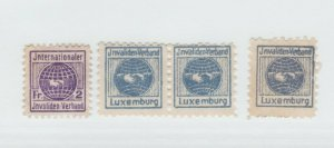 Luxembourg Cinderella or Revenue fiscal Stamp 5-24-21- small stamps