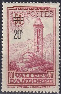 Andorra (Fr)  #64  F-VF Unused  CV $18.50  (V5122)