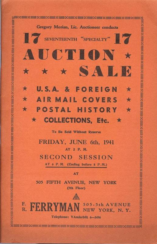 Ferryman: Sale # 17  -  U.S.A & Foreign, Airmail Covers, ...