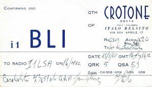 8849 Amateur Radio QSL Card  CROTONE ITALY