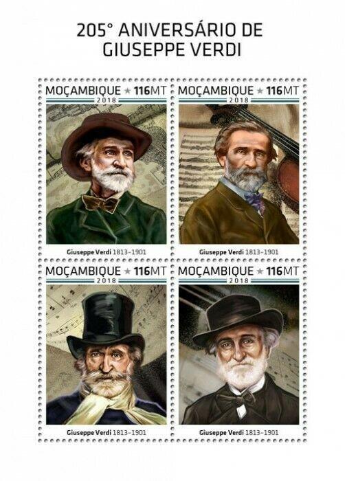 HERRICKSTAMP NEW ISSUES MOZAMBIQUE Giuseppe Verdi Sheetlet