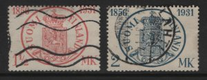 FINLAND  182-183 USED FIRST POSTAGE STAMPS OF FINLAND SET