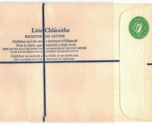 Ireland EIRE Unused Registered Postal Stationery Size K Green 1/5 1966 EB226