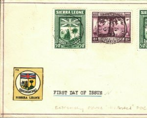 SIERRA LEONE FDC Extremely Scarce Illustrated First Day Cover USA 1933 PB337