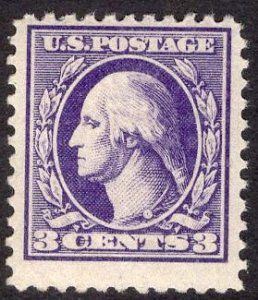 US Stamp #530 3c Washington MINT NH SCV $4.50