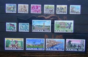 Kenya 1963 Independence set compete to 20s SG1 - SG14  MNH
