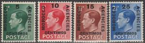 Great Britain Off In Morocco #78-81 MNH (V1633)