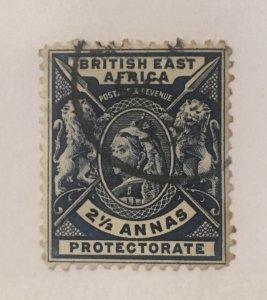 British East Africa Scott 76 Queen Victoria 2 1/2 Annas-Used