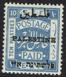 PALESTINE 1921 EEF OVERPRINTED 10PI ARABIC 10MM LONG