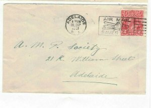 APH1428) Australia 1931 2d Red KGV Die I Small Cover