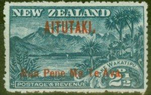 Aitutaki 1911 2 1/2d Dp Blue SG3 Fine Mtd Mint