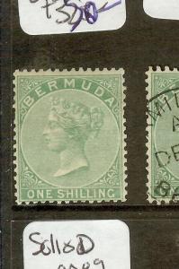 BERMUDA (P0710B) QV  1/-  SG8  MOG