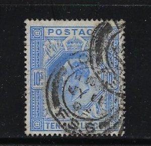 GREAT BRITAIN SCOTT #141 EDWARD VII 1902-11 10 SH (BLUE)  - USED
