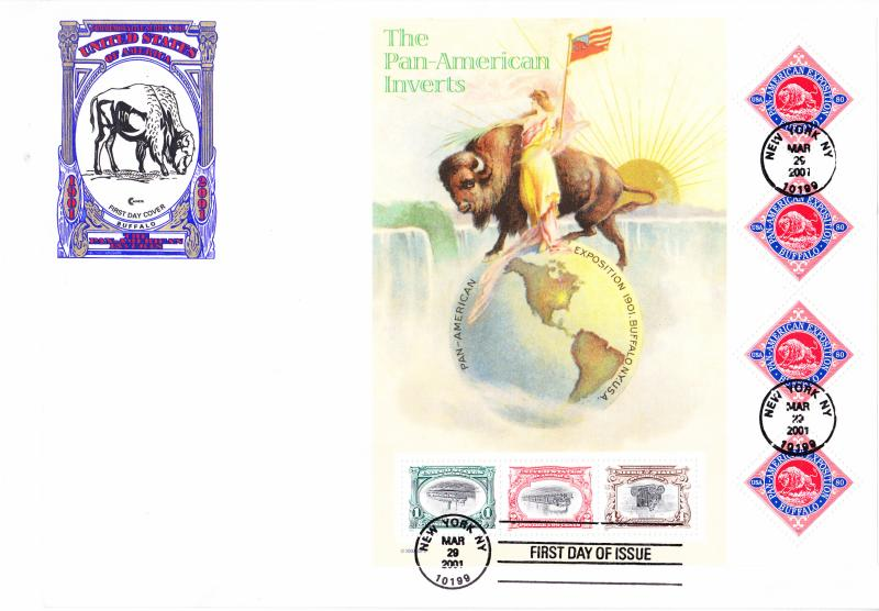 U.S. The Pan-American Inverts Sheet on Large Envelope. FDC