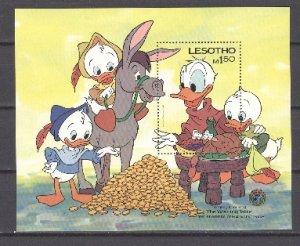 LESOTHO DISNEY #511...SOUV. SHEET...MNH...$6.00