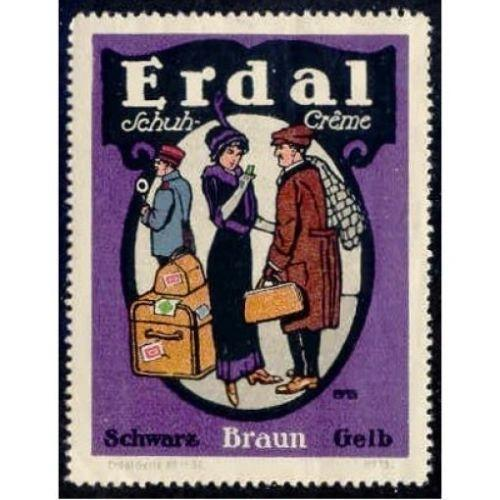 Germany ERDAL SCHUH CR?ME Advertising Poster Stamp