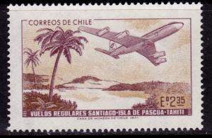 Chile 413 MNH - Airplane over Tahiti - 1971