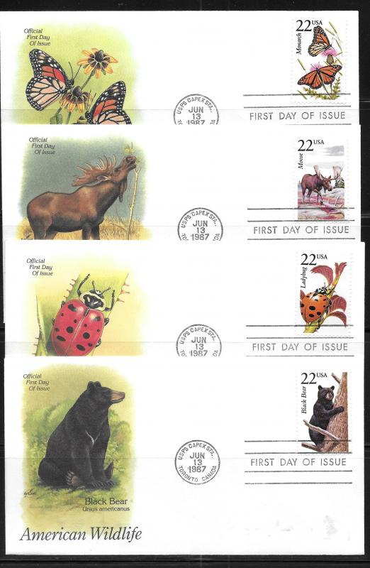 United States, 2286-2335, Wildlife Artcraft First Day Cover FDC