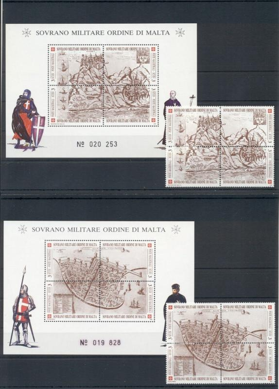 Knights Military Navigation Maps Sovereign Order of Malta MNH stamps set