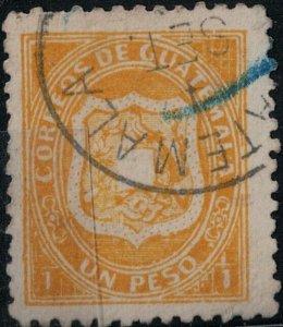 Guatemala 1873 SC 6 Mint SCV $215