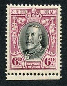 Southern Rhodesia SG20b 6d Perf 14 U/M cat 7+++ pounds